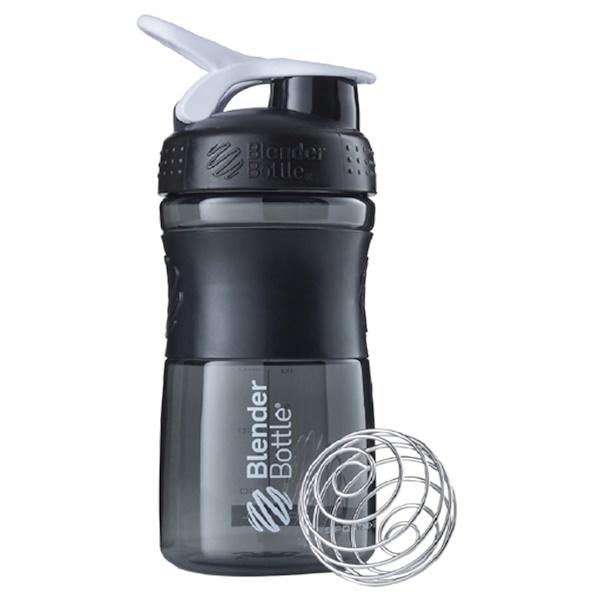Blender Bottle, BlenderBottle, SportMixer Tritan Grip, Black-White, 20 oz (Discontinued Item)
