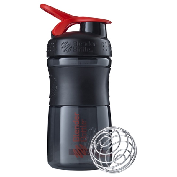 Sundesa, BlenderBottle, SportMixer Tritan Grip, Black-Red, 20 oz