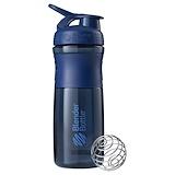 Отзывы о Blender Bottle, Бутылка-блендер BlenderBottle, SportMixer Tritan Grip, темно-синяя, 28 унций