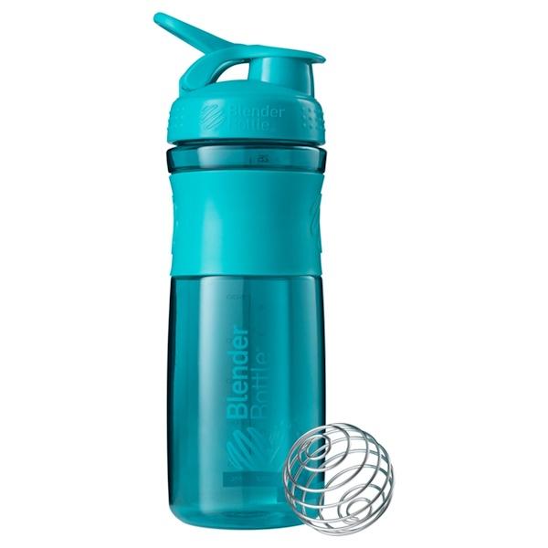 Blender Bottle, BlenderBottle, SportMixer Tritan Grip, Moss Teal, 28 oz (Discontinued Item)