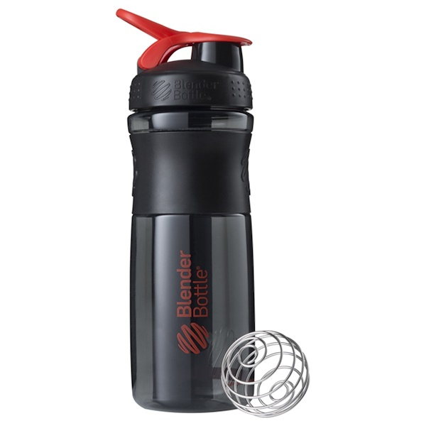 Sundesa, BlenderBottle, SportMixer Tritan Grip, Black/Red, 28 oz (Discontinued Item)