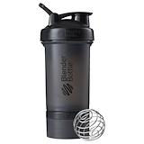 Отзывы о Blender Bottle, Блендер, ProStak, черный, 22 унции (650 мл)