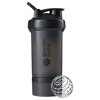 Blender Bottle, BlenderBottle, ProStak, Black, 22 oz