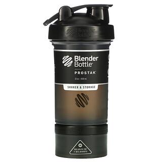 Blender Bottle, ProStak, Black, 22 oz (650 ml)
