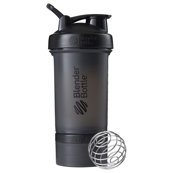 BlenderBottle, ProStak, negro, 22 oz