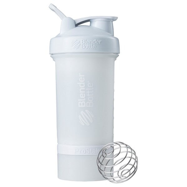 Blender Bottle, BlenderBottle, ProStak, White, 22 oz