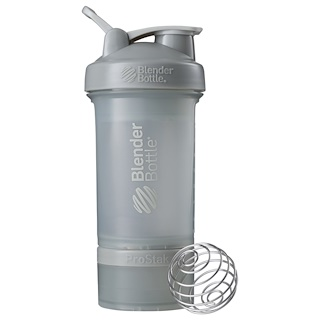 Blender Bottle, BlenderBottle, ProStak, Pebble Grey, 22 oz