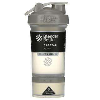 Blender Bottle, ProStak, Pebble Grey, 22 oz (651 ml)