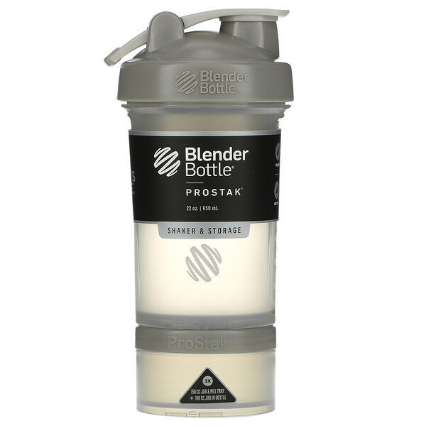 Blender Bottle, ProStak, Pebble Grey, 22 oz (651 ml)
