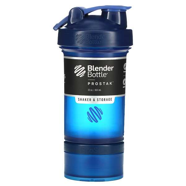 BlenderBottle, ProStak, Navy, 22 oz