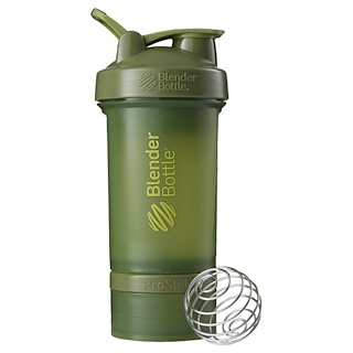 Blender Bottle, BlenderBottle,ProStak,苔綠色,22盎司