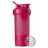 Отзывы о Blender Bottle, Взбиватель BlenderBottle, ProStak, розовый, 660 мл