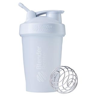 Blender Bottle, BlenderBottle, Clássico com volta, Branco, 20 oz