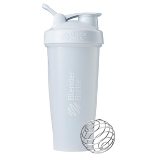 Blender Bottle, BlenderBottle, Classic With Loop, White, 28 oz