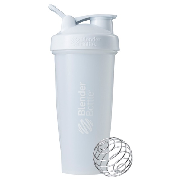 Blender Bottle, BlenderBottle, clásica con asa, blanca, 28 oz (Discontinued Item)