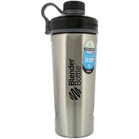 Blender Bottle Radian, Insulated Stainless Steel, Natural/Black , 26 oz - фото