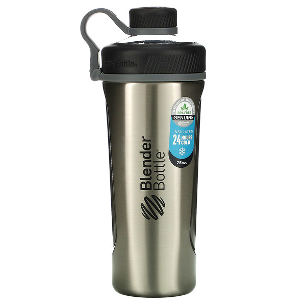 Blender Bottle Radian, Insulated Stainless Steel, Natural/Black , 26 oz