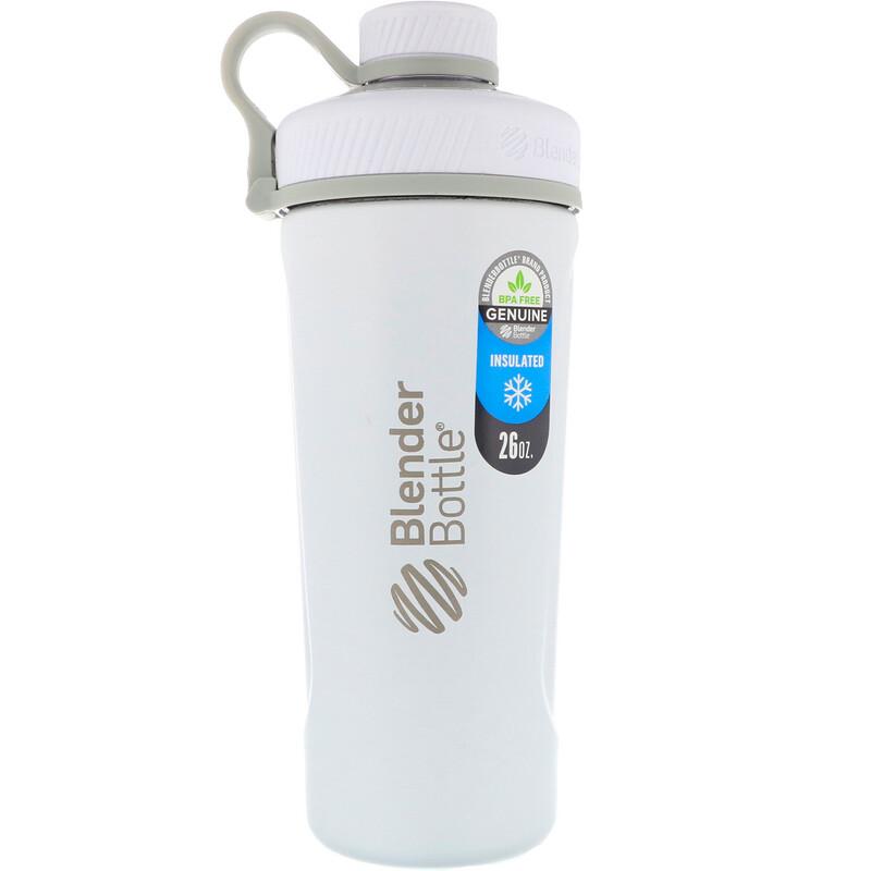 Blender Bottle, 弧度揺搖瓶,絕緣不銹鋼,啞光白色,26盎司