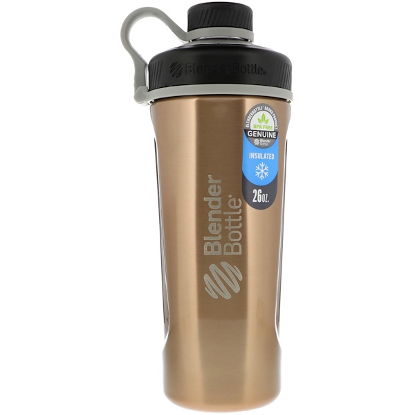 Blender Bottle, Blender Bottle Radian, Insulated Stainless Steel, Copper , 26 oz