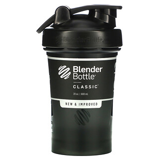 Blender Bottle, Classic with Loop, Black, 20 oz (600 ml)