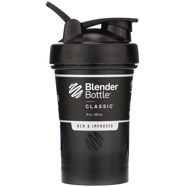 Blender Bottle, Classic With Loop, Black, 20 oz