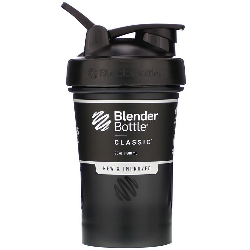 Blender Bottle, Classic 經典環形水杯,黑色,20 盎司