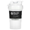 Blender Bottle, Classic With Loop, White, 20 oz