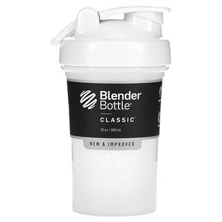 Blender Bottle, Classic With Loop, Trinkflasche, weiß, 600ml (20oz.)