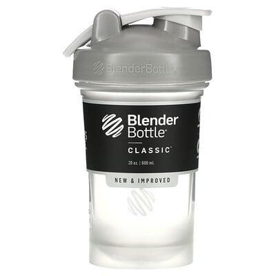 Blender Bottle Classic With Loop, классический шейкер с петелькой, серый, 600мл (20унций)