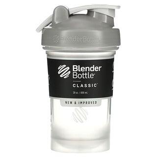Blender Bottle, Classic with Loop, Pebble Grey, 20 oz (600 ml)