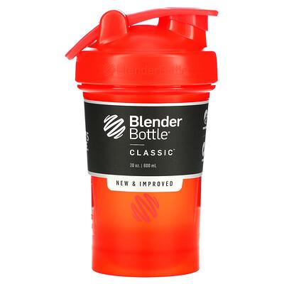 Blender Bottle Classic With Loop, классический шейкер с петелькой, красный, 600мл (20унций)