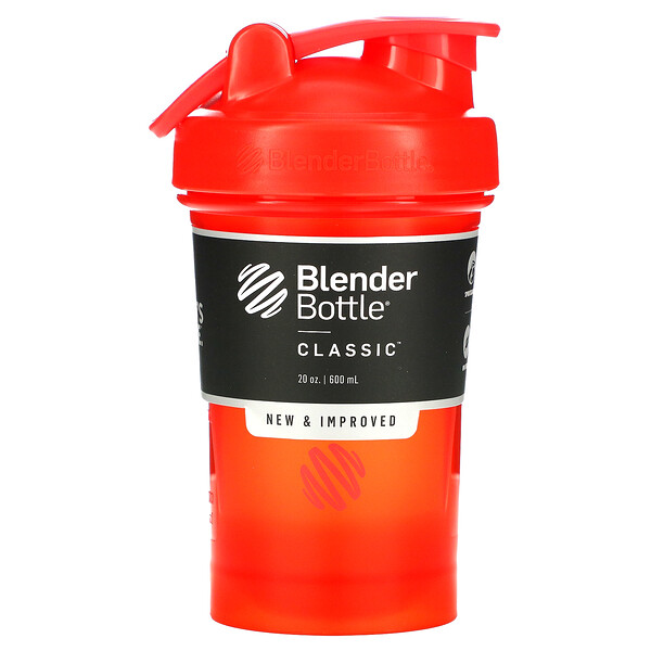 Blender Bottle, Classic with Loop, Red, 20 oz (600 ml)