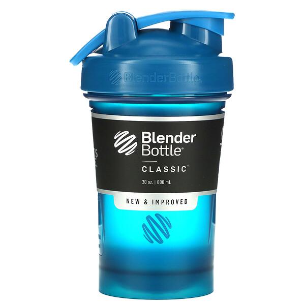 """בקבוק קלאסי עם לולאה, בצבע כחול ים, 600 מ""""ל (20 אונקיות)"""