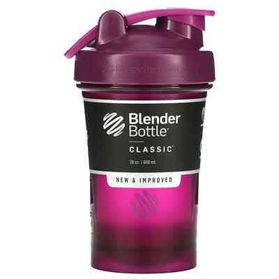 Blender Bottle Classic With Loop, классический шейкер с петелькой, сливовый, 600мл (20унций)