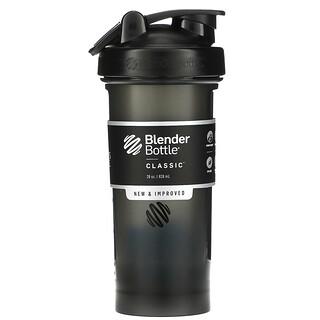 Blender Bottle, Classic with Loop, Black, 28 oz (828 ml)