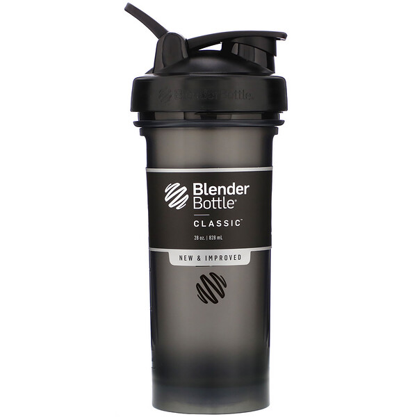 Blender Bottle, Classic With Loop, Black, 28 oz (828 ml)