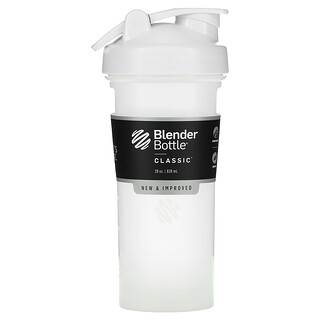 Blender Bottle, Classic with Loop, White, 28 oz (828 ml)