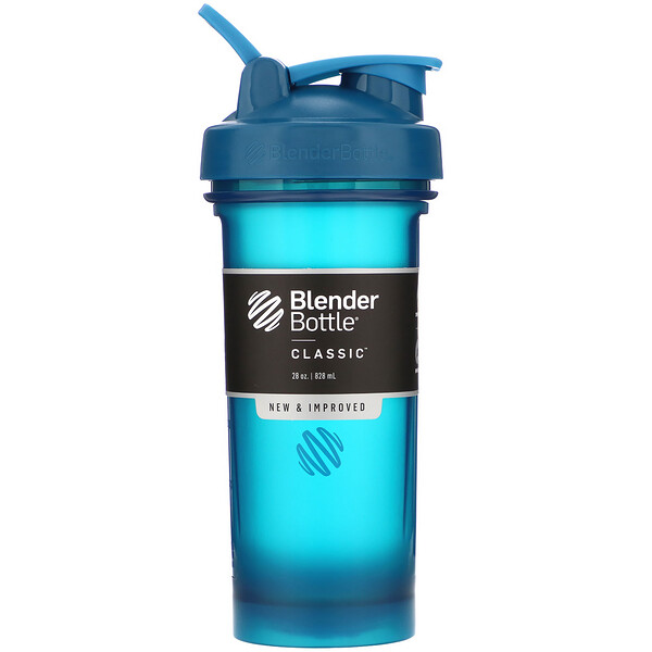 Blender Bottle, Classic With Loop, Ocean Blue, 28 oz (828 ml)