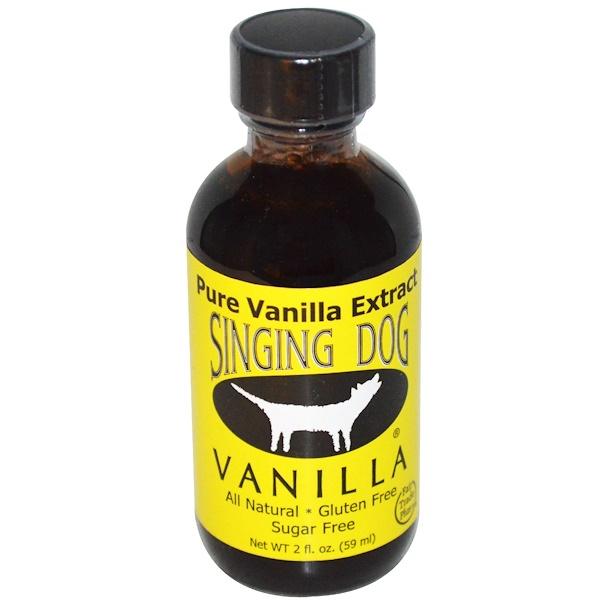 Singing Dog Vanilla, Pure Vanilla Extract, Farm Grown , 2 fl oz (59 ml) (Discontinued Item)
