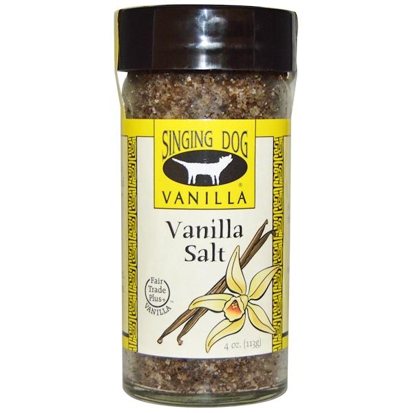 Singing Dog Vanilla, Vanilla Salt, 4 oz (113 g) (Discontinued Item)