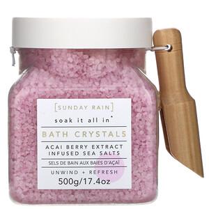 Sunday Rain, Soak It All In, Bath Crystals, Acai Berry Extract, 17.4 oz (500 g) отзывы