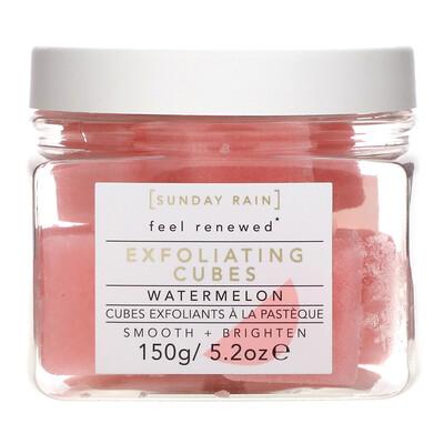 Купить Sunday Rain Feel Renewed, Exfoliating Cubes, Watermelon, 5.2 oz (150 g)