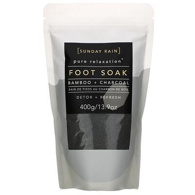 Купить Sunday Rain Pure Relaxation, Foot Soak, Bamboo + Charcoal, 13.9 oz (400 g)