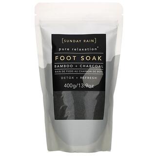 Sunday Rain, Pure Relaxation, Foot Soak, Bamboo + Charcoal, 13.9 oz (400 g)
