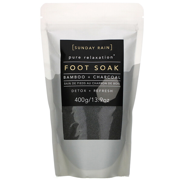 Pure Relaxation, Foot Soak, Bamboo + Charcoal, 13.9 oz (400 g)