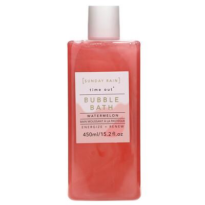 Купить Sunday Rain Time Out, Bubble Bath, Watermelon, 15.2 fl oz (450 ml)