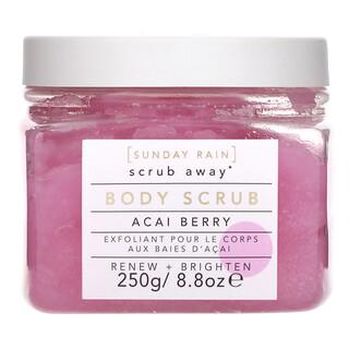 Sunday Rain, Scrub Away, Body Scrub, Acai Berry, 8.8 oz (250 g)