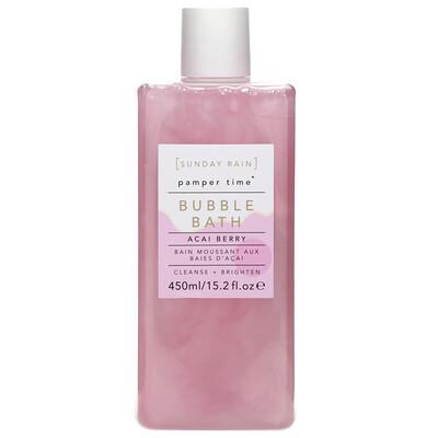 Купить Sunday Rain Pamper Time, Bubble Bath, Acai Berry, 15.2 fl oz (450 ml)