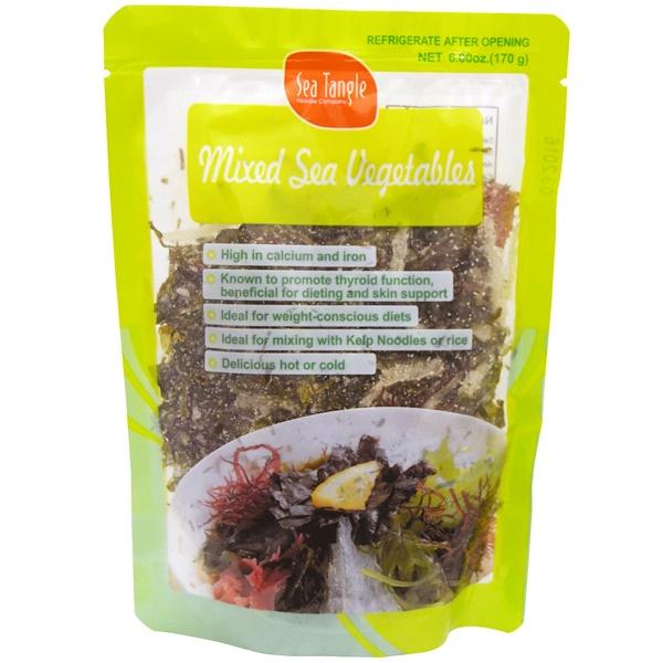 Sea Tangle Noodle Company, Mixed Sea Vegetables, 6 oz (170 g)