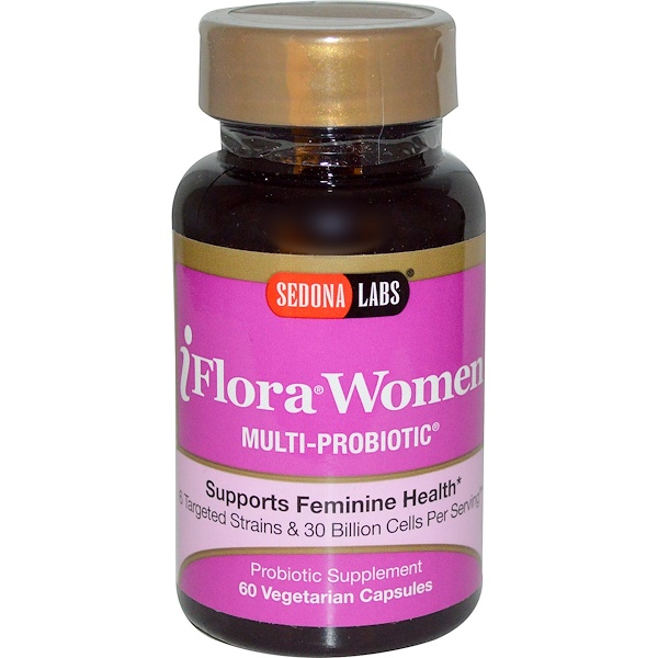 Sedona Labs, iFlora Women, Multi-Probiotic, 60 Veggie Caps (Discontinued Item)